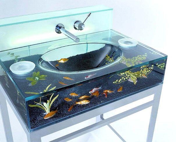 20 Akuarium Paling Unik dan Kreatif di Dunia : Aquarium Sink