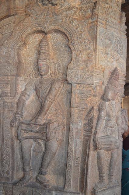 Pillars of Veerabhadra Temple, Lepakshi, Andhra Pradesh