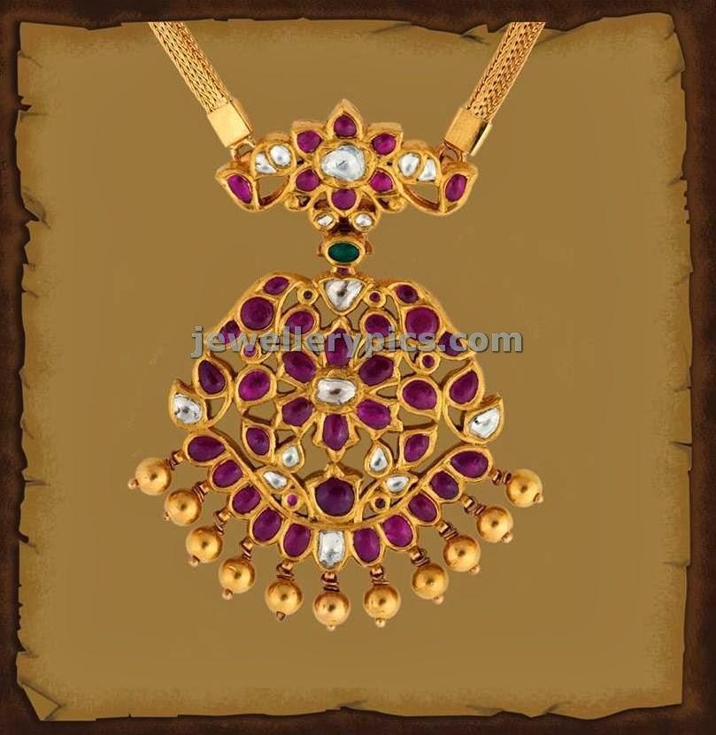 burmies rubies pendent gold chain
