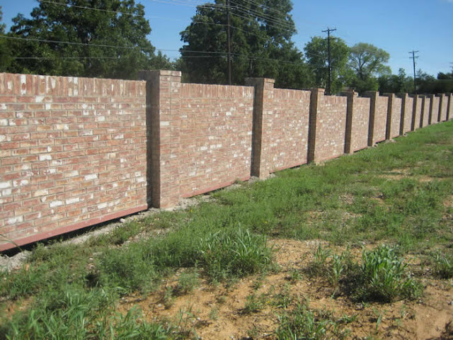 Fence Brick Wall Design : Brick fence designs images