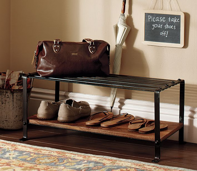 POTTERY BARN BLACKSMITH SHOE RACK