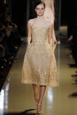 robe haute couture brodé rose pale elie saab mannequin2013
