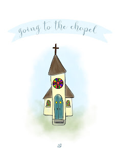 LostBumblebee ©2015 MDBN : Free Donate to Download Printable : Going to the Chapel : Personal use ONLY -no commercial use.