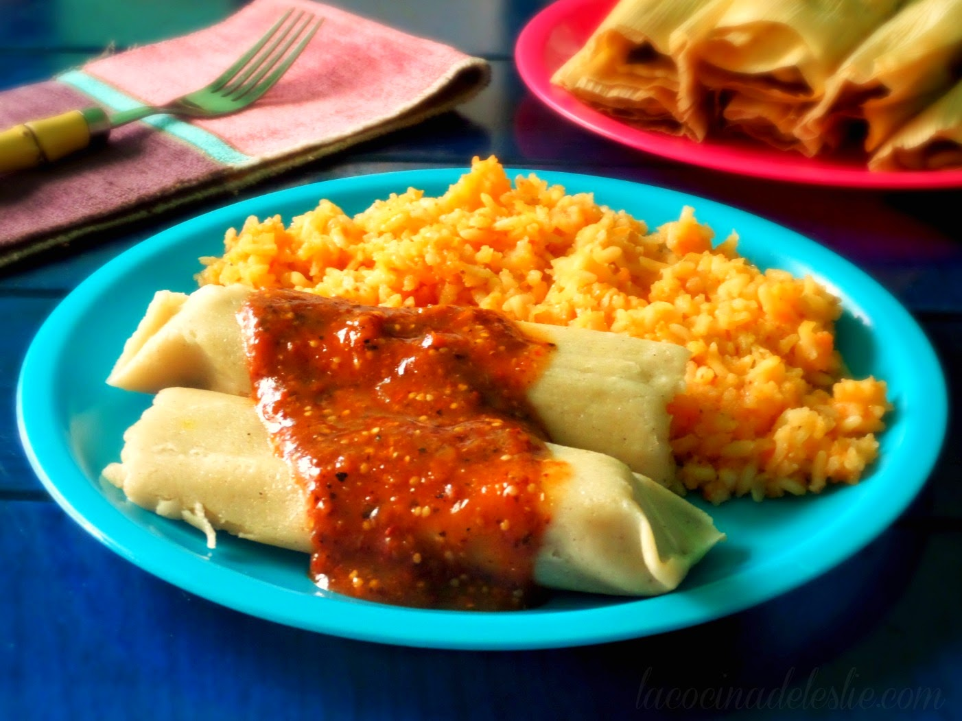 Tamales de Rajas y Requeson - lacocinadeleslie.com