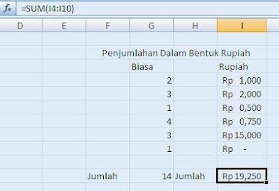 Cara Menuliskan Mata Uang Rupiah Secara otomatis di Excel 2007