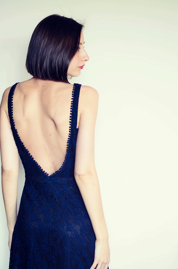Zara Backless Lace Dress