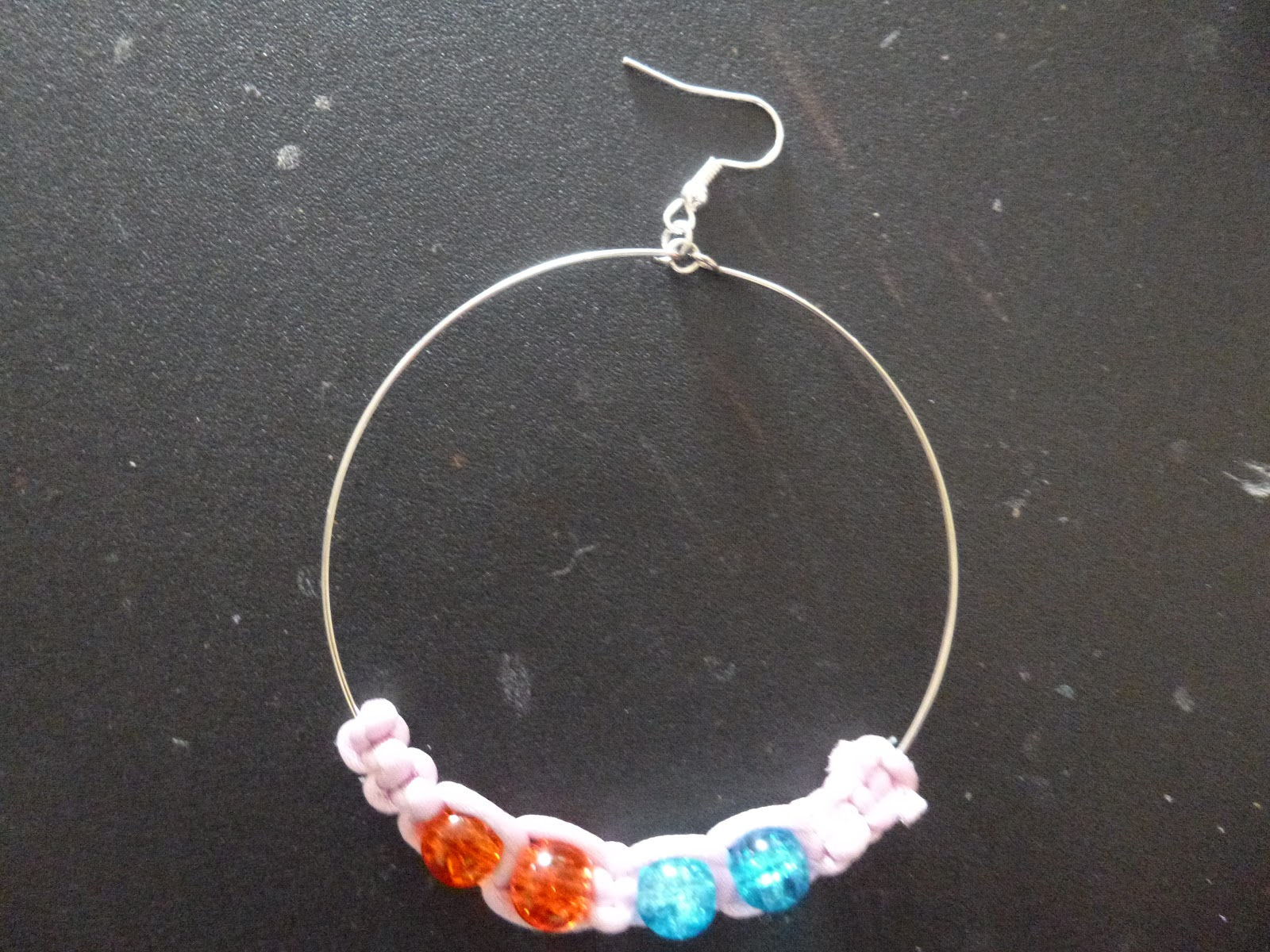 Crafts with Sapphire: Shamballa style hoop earrings