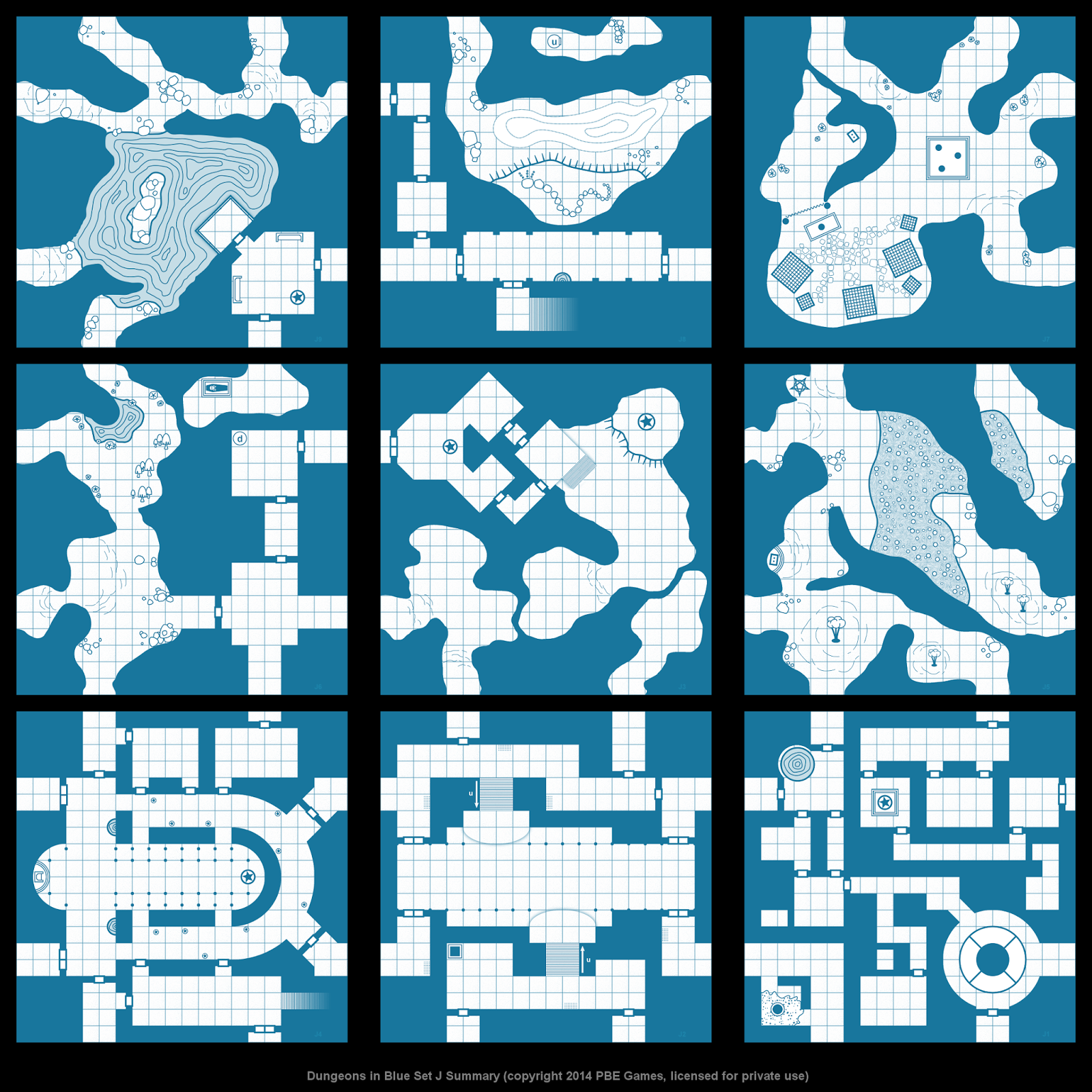 Dungeons in Blue - New Tiles
