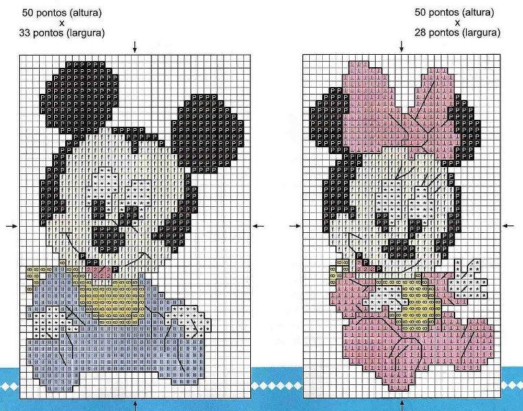 """Gráficos de ponto cruz"""" Turma do Mickey"""""""