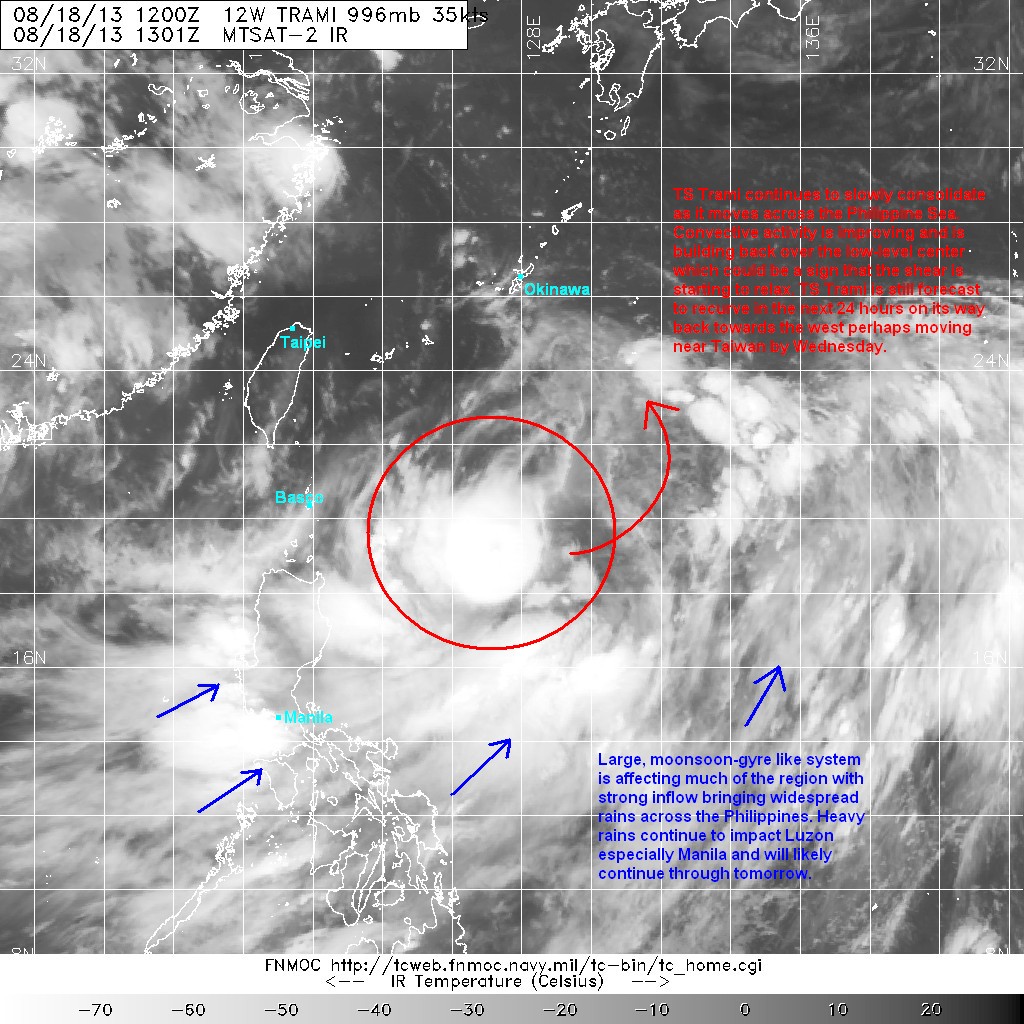 latest satellite image shows strong convective activity starting to rebuild over the low level center however convection is still being slightly sheared