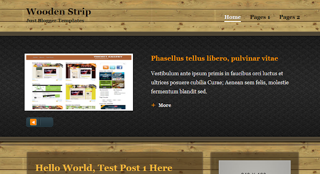 Wood Blogger Template