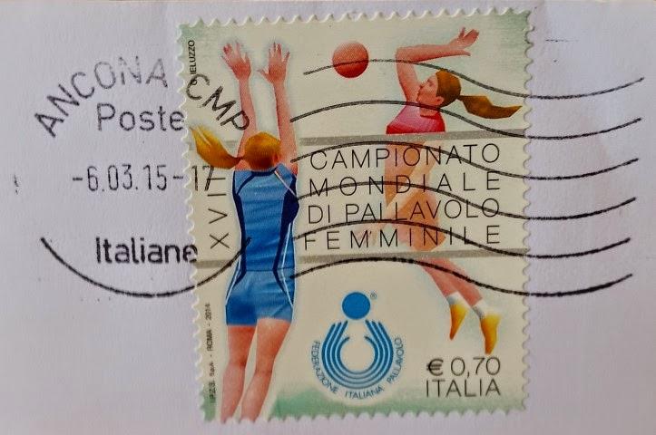 francobollo XVII Campionato Mondiale di Pallavolo Femminile