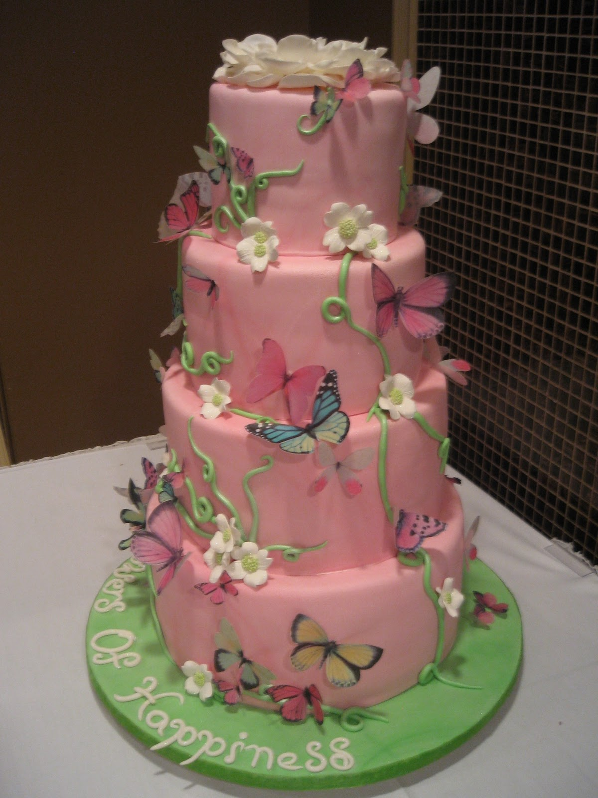 the sweet escape blog butterfly baby shower cake