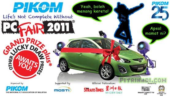 date tarikh tempat place pikom pc fair 2011