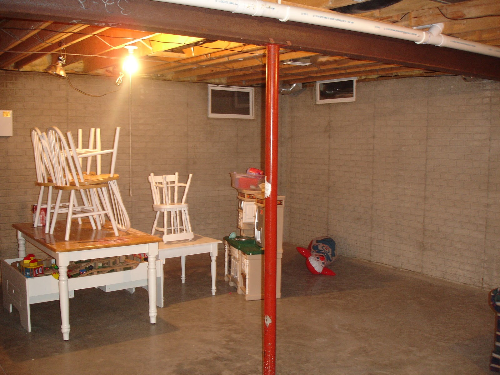 31 Days Of Character Building Diy Aged Brick Basement Walls