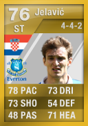 Nikica Jelavic (T) 76 - FIFA 12 Ultimate Team Card