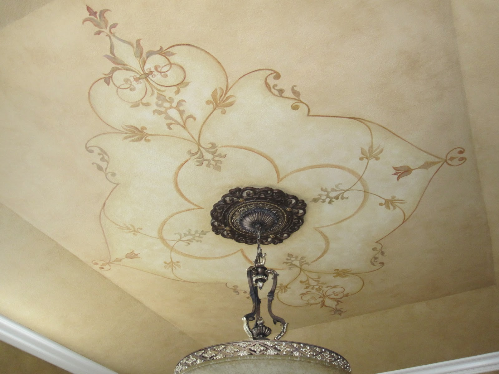 Stormer decorative finishes ceiling mural for Ceiling mural painting techniques