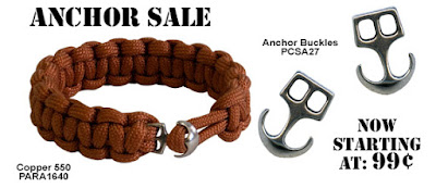 Anchor Buckles on sale at Parachute Cord Craft