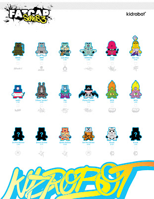 Kidrobot Fatcap Series 3 Checklist and Ratios
