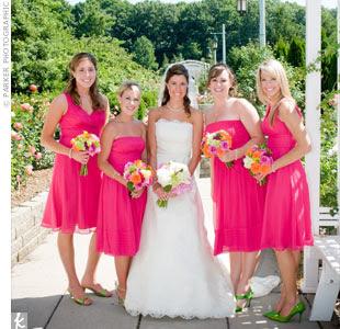 Long plus size pink wedding dresses