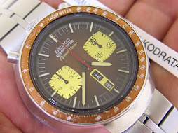 SEIKO CHRONOGRAPH 5 SPORTS SPEEDTIMER BROWN BULLHEAD - AUTOMATIC 6138