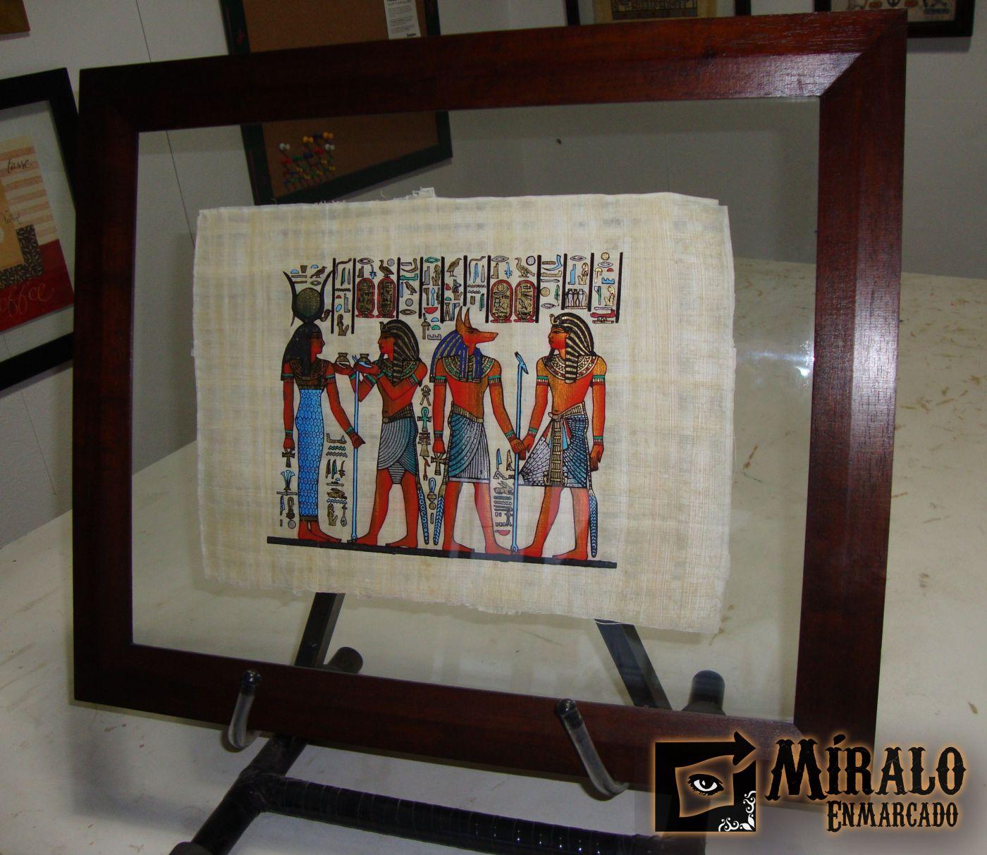 Enmarcado de papiro egipcio doble vidrio - Enmarcado de cuadros ...