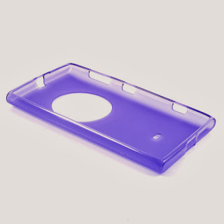Frosted TPU Jelly Case for Nokia Lumia 1020 - Purple