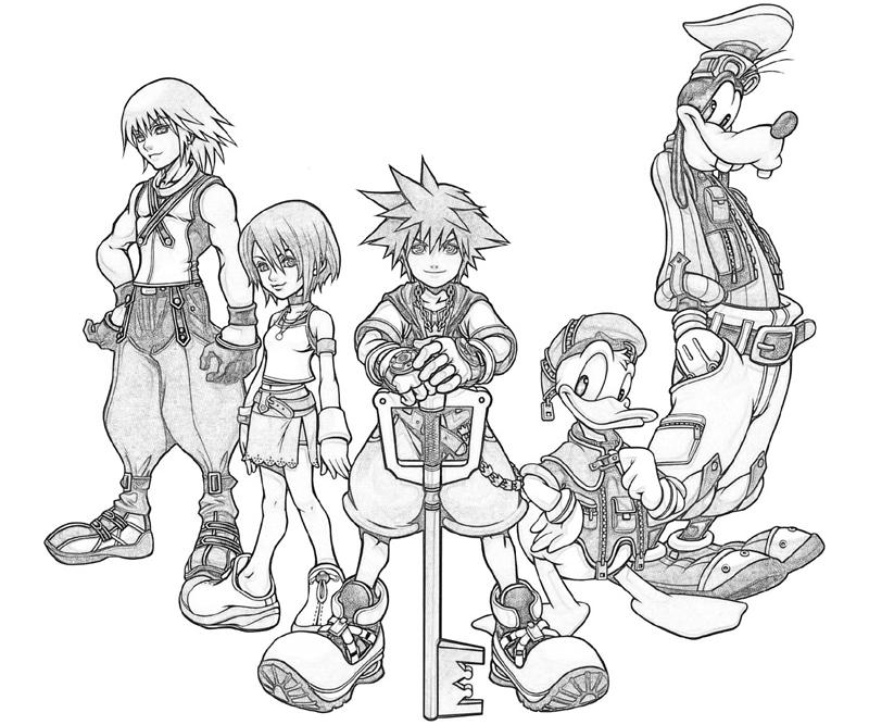 Kingdom hearts goofy characters yumiko fujiwara for Kingdom hearts printable coloring pages