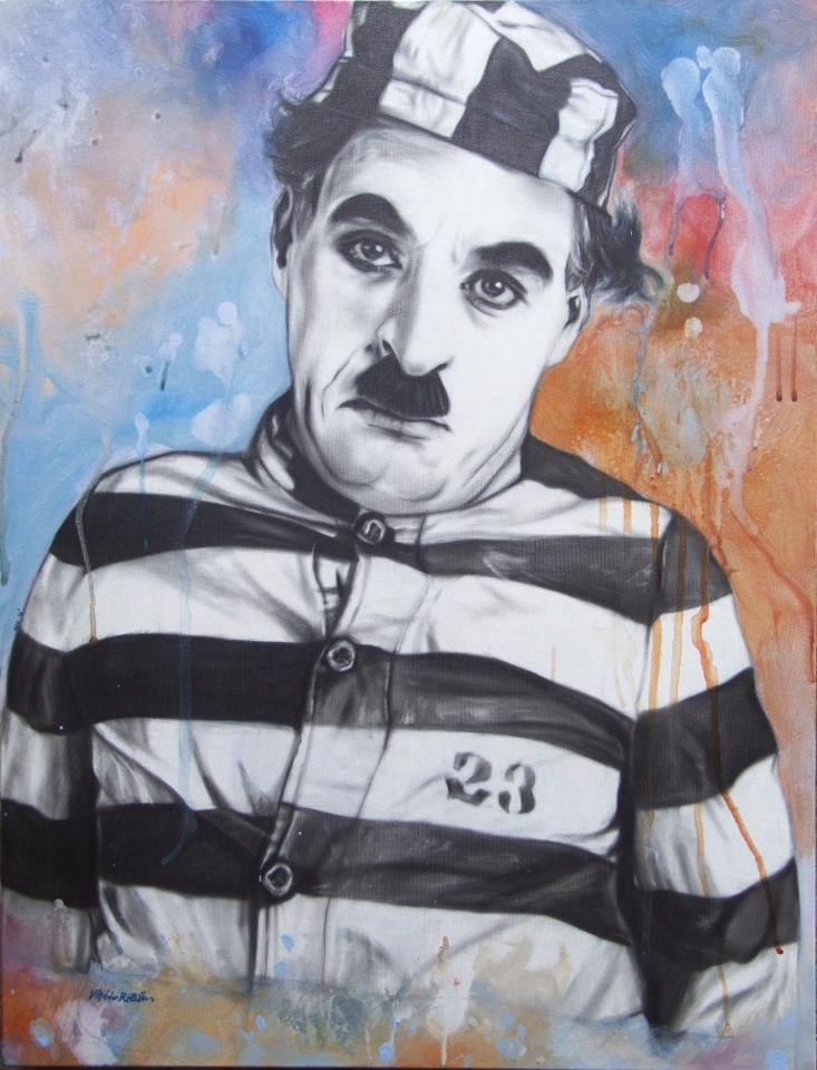 Charlie Chaplin - New Pop Realism - Sebastian Krüger 1963