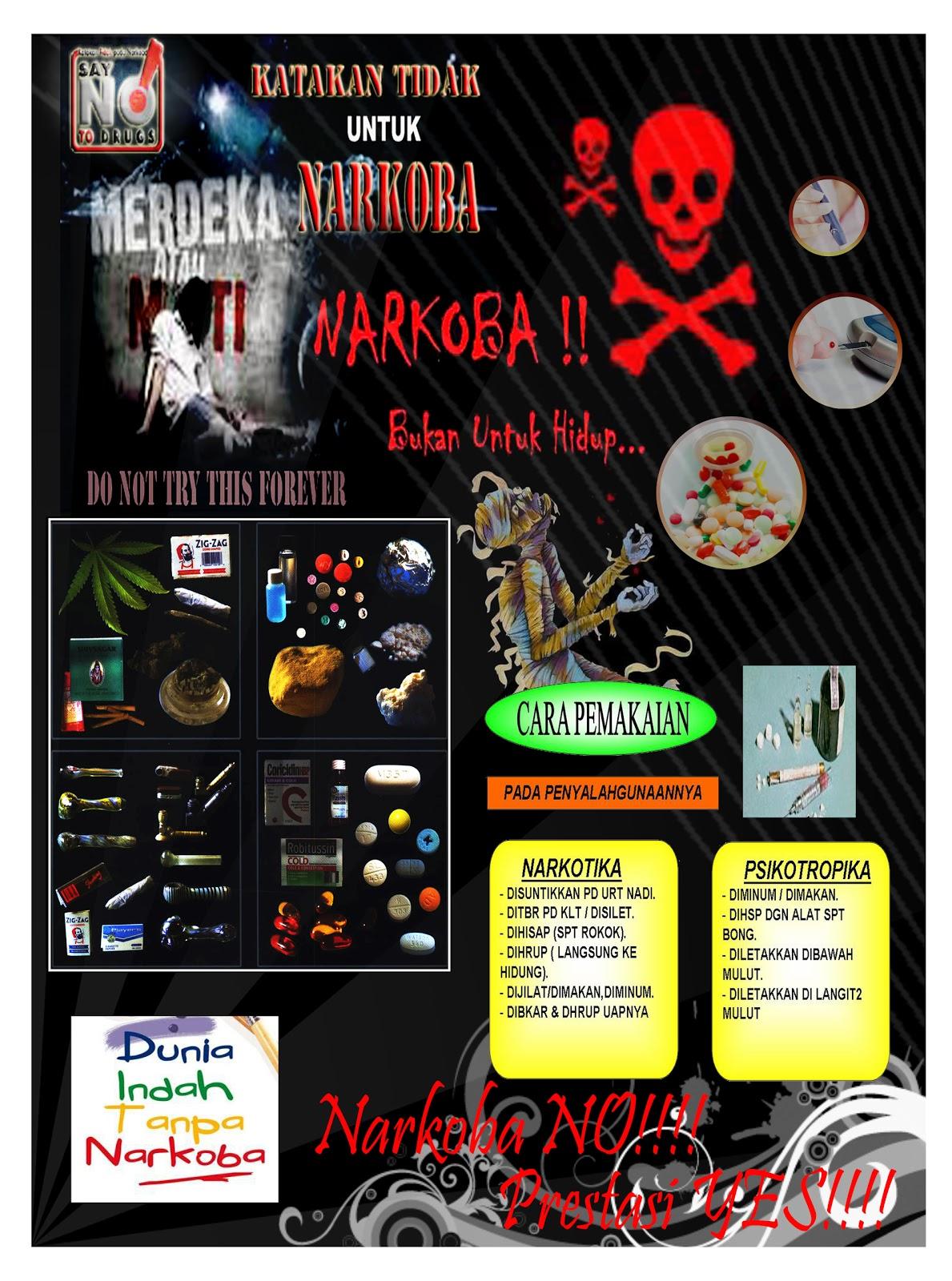Contoh Poster Narkoba