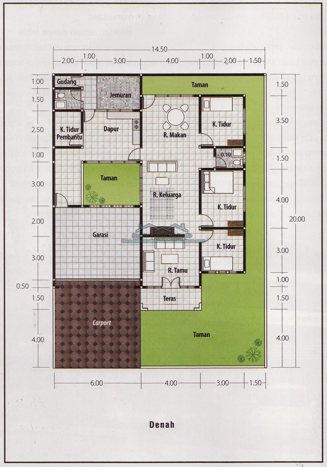 Desain Rumah Minimalis 1 Lantai 4 Kamar Tidur Foto Desain Rumah