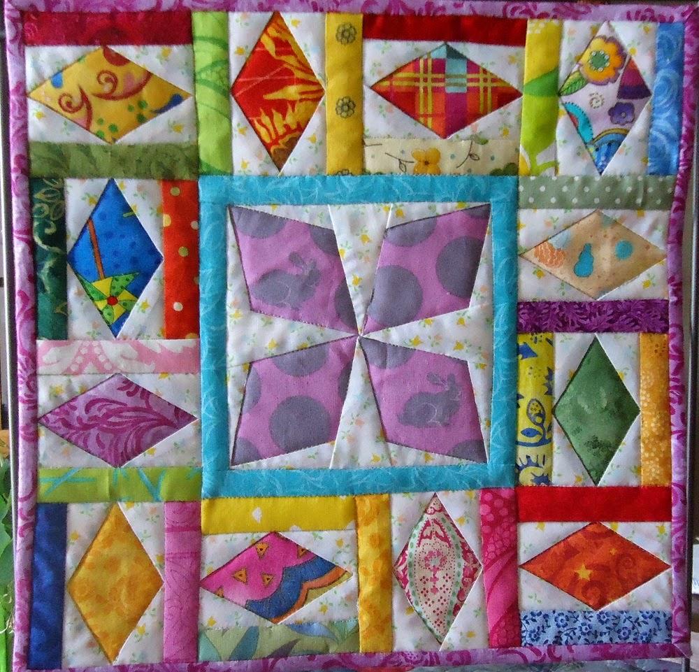 Spinner mini-quilt