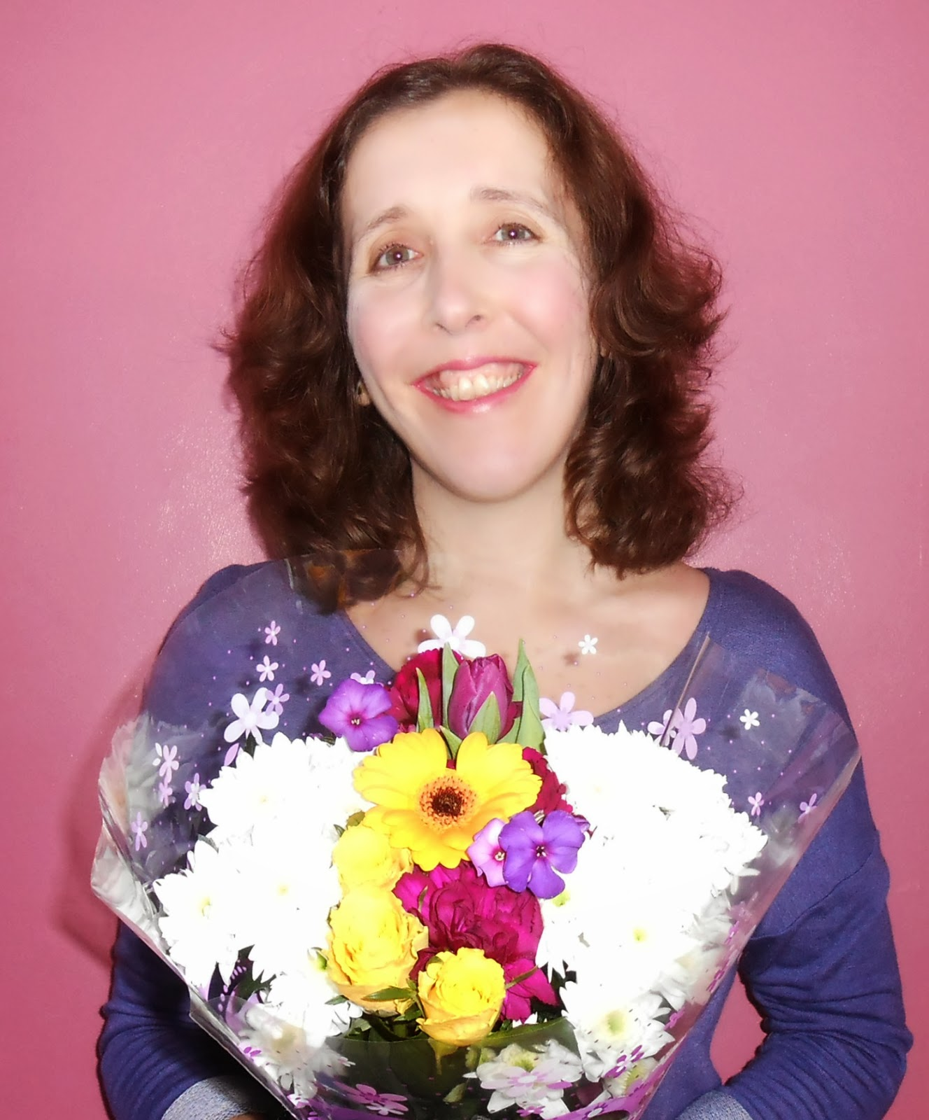 Woman Holding Bunches Bouquet Flowers Valentines