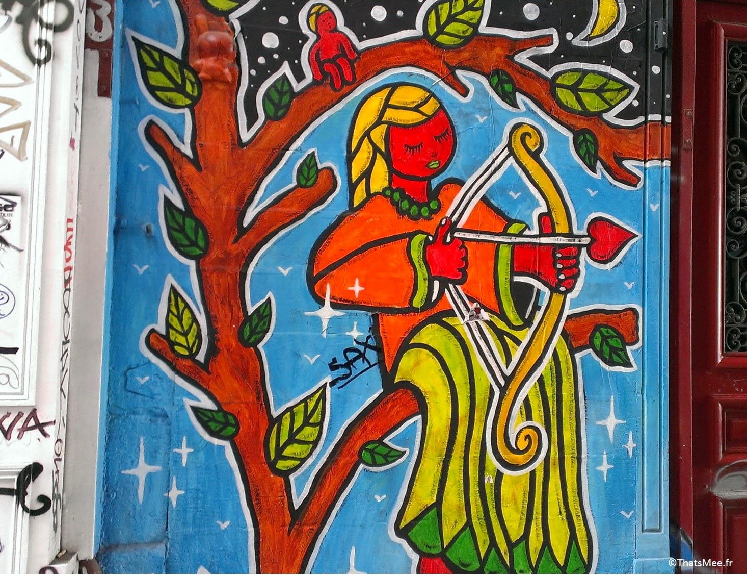 Street Art Diane Arc Paris face rue du Faubourg Saint-Martin
