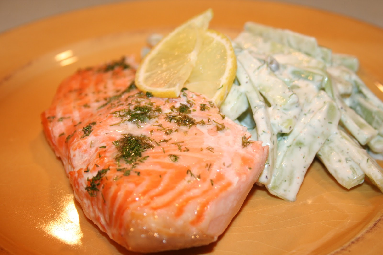 COOK WITH SUSAN: Baked Salmon with Creamy Dill Sauce