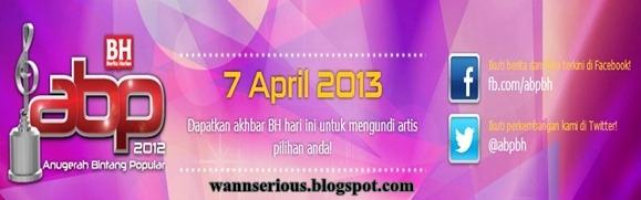 Senarai 5 Finalis Kategori Utama ABPBH 2012, Cara Mengundi 5 Finalis Kategori Utama ABPBH 2012