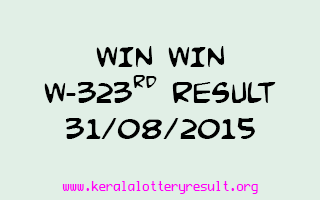 WIN WIN W 323 Lottery Result 31-8-2015