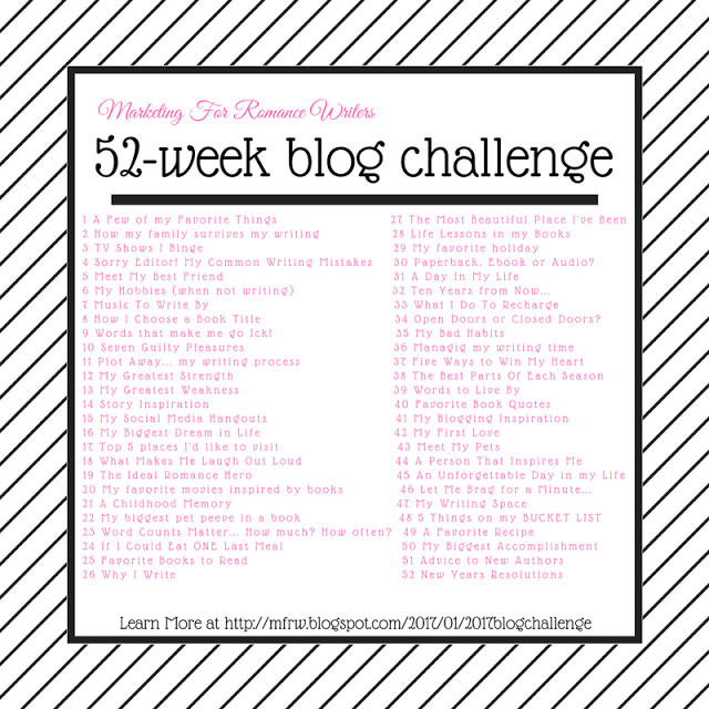 #MFRWauthor 52-Week Blog Challenge!