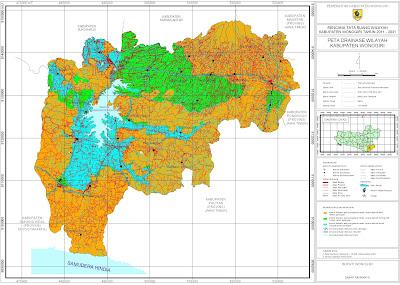 Peta Drainase Wilayah Kabupaten Wonogiri