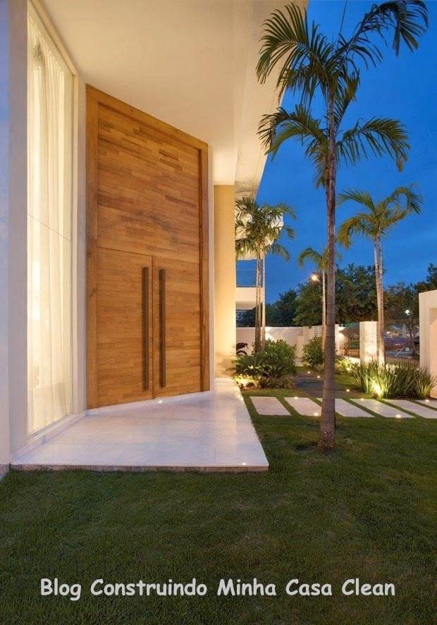 Construindo minha casa clean casa maravilhosa fachada e interior super moderno - Entrada de casas modernas ...