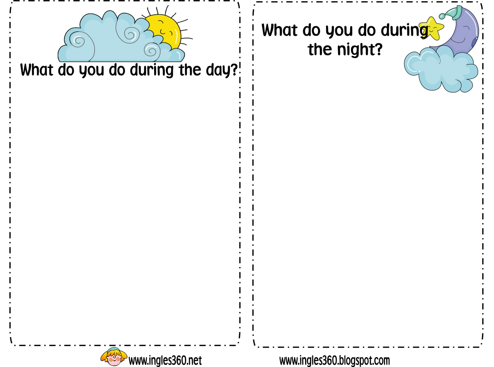 Night Worksheets Davezan – Day and Night Worksheets for Kindergarten