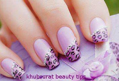 Tips of beautiful nails