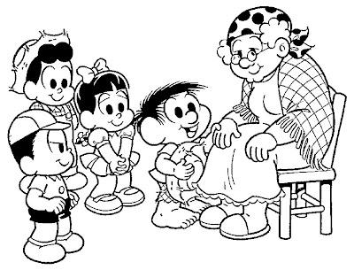 Desenho dia dos avós para colorir