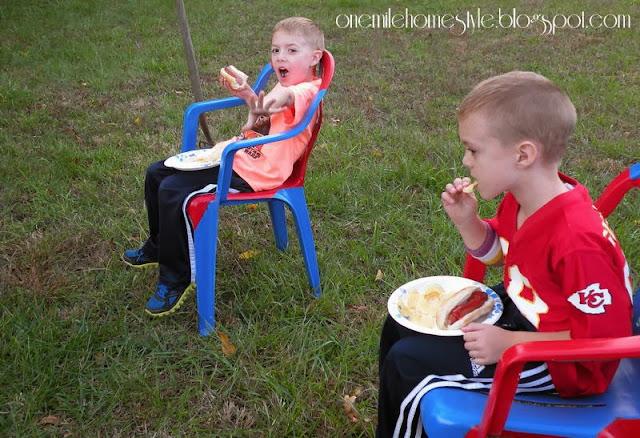 Dinner Around the Campfire