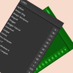 Membuat CSS Jumlah Entri Pada Widget Label