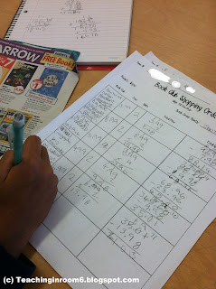 adding decimals, subtracting, multiplying, 5th grade, teaching in room 6, blog, education