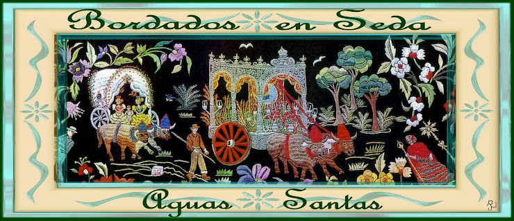 Bordados en seda Aguas Santas Aguilar Jiménez