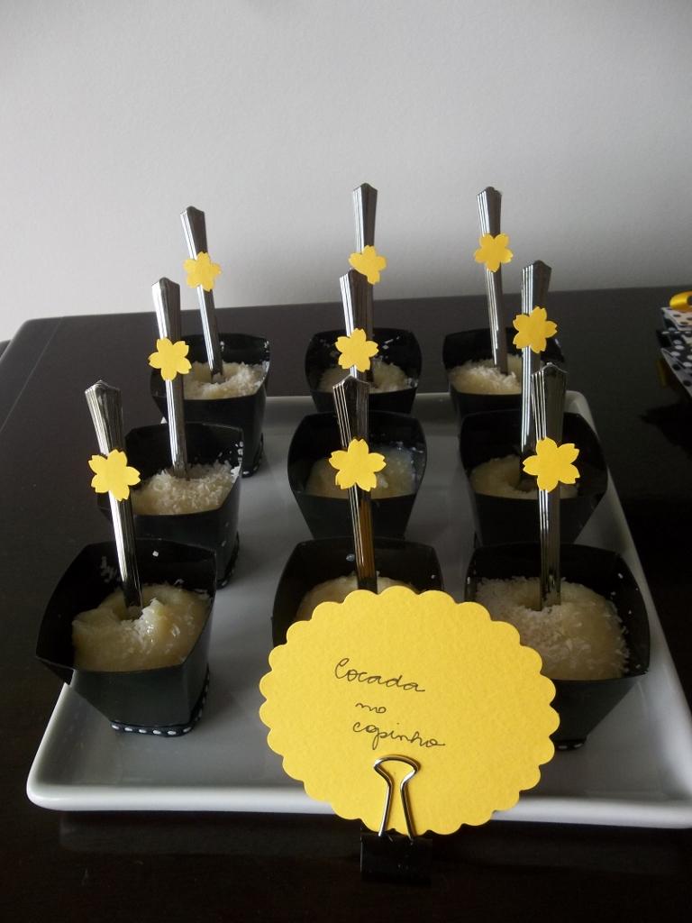 decoracao amarelo branco e preto: Coisas e Fatos: Decoração de aniversário preto, branco e amarelo