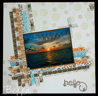Meru Sunrise Page using Spice Cake Papers