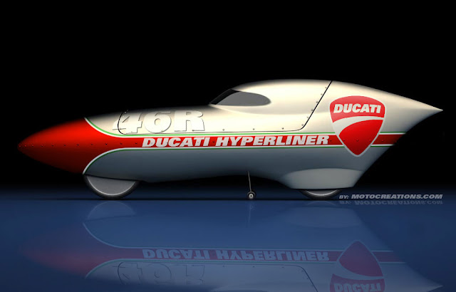 Ducati Hyperliner - Ducati Hyperliner Bonneville Salt Flats racer Design by Motocreations